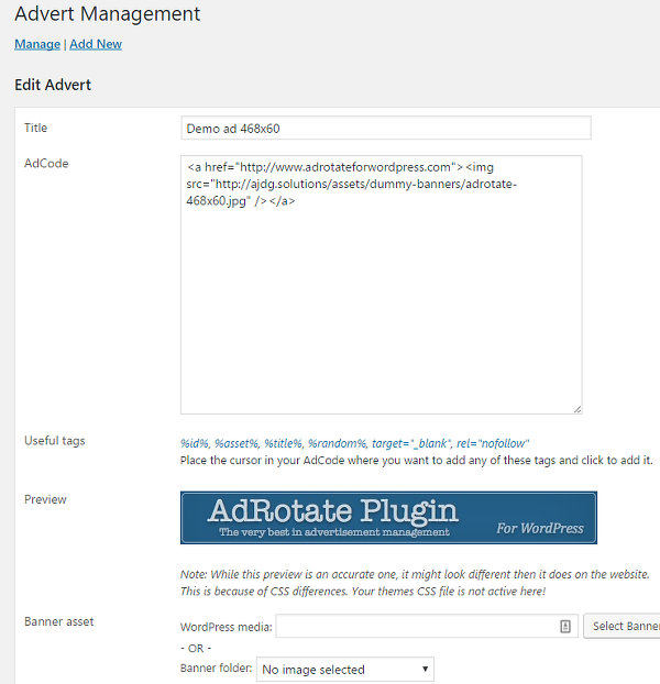 WordPress plugins to display adverts on your website or blog