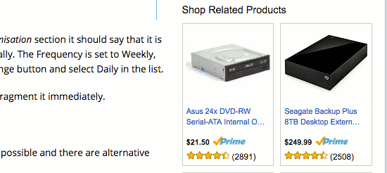 An Amazon affiliate advert
