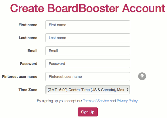 Sign up for a free trial at the BoardBooster website