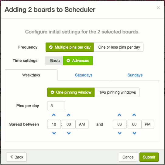 Schedule Pinterest pins with BoardBooster