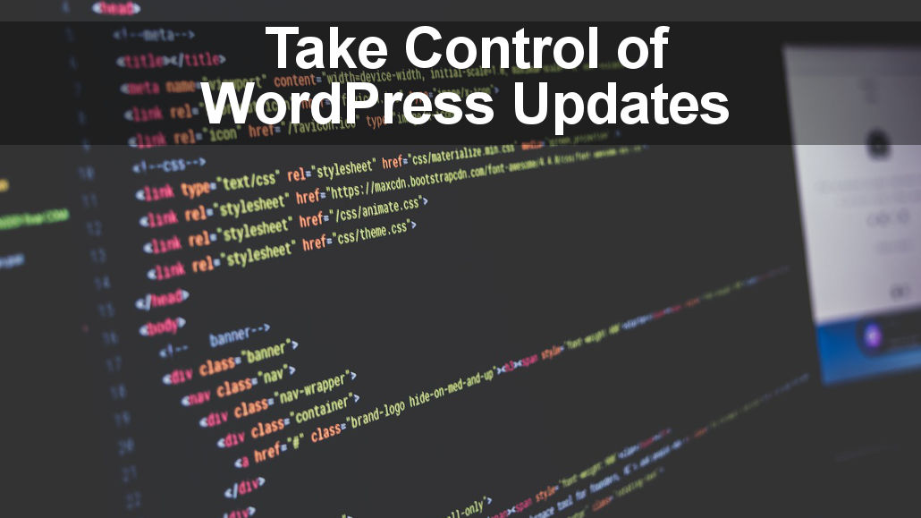 Take control of WordPress updates and choose whether to automatically apply them or to manually install them