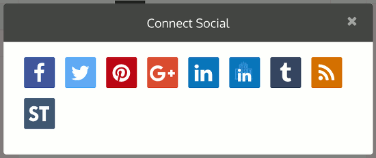 Add a social network to your account at the Dlvr.it website