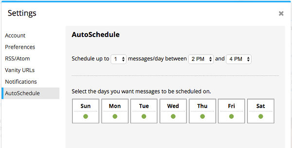 Set a posting schedule in Hootsuite