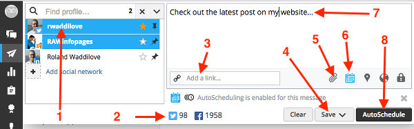 Create a post to share in Hootsuite