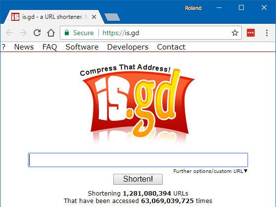 is.gd URL shortener