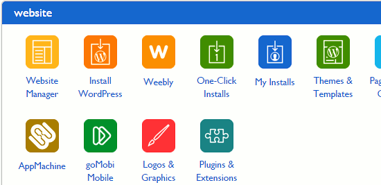 Easy install of WordPress and other CMS