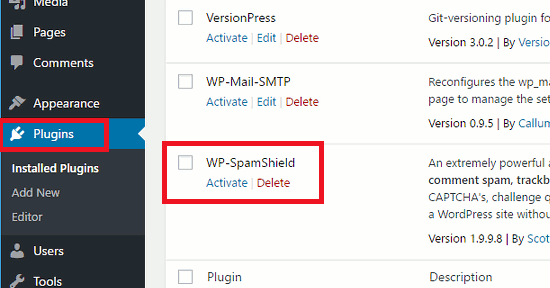 Activate a WordPress plugin after installing it