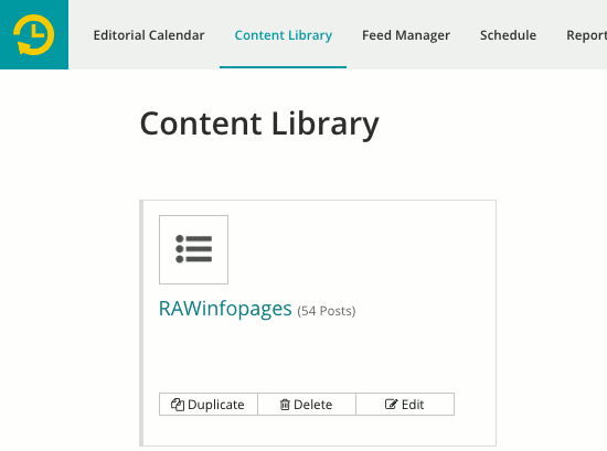 Your content library in Recurpost