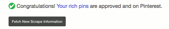 Validate a Pinterest Rich Pin