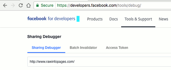 Use Facebook debugger to check social shares