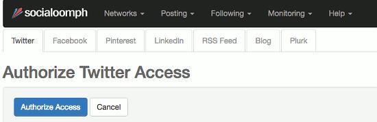 Add social media accounts to Social Oomph