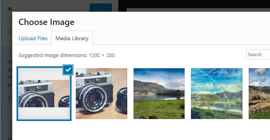 Set a featured image in WordPress posts and pages