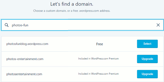 Choose a domain for your WordPress website