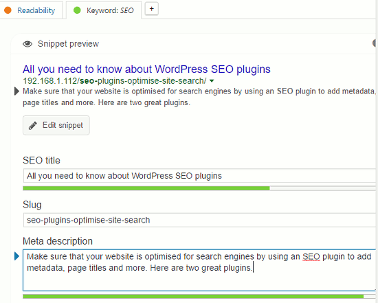 Add a page title and meta description to a WordPress post using Yoast