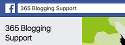 A link to the 365 Blogging Support group ion Facebook