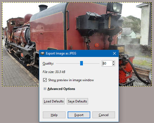 Choose the best quality vs size setting for JPEG images