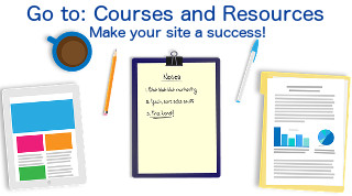 Courses and resources for bloggers and website owners