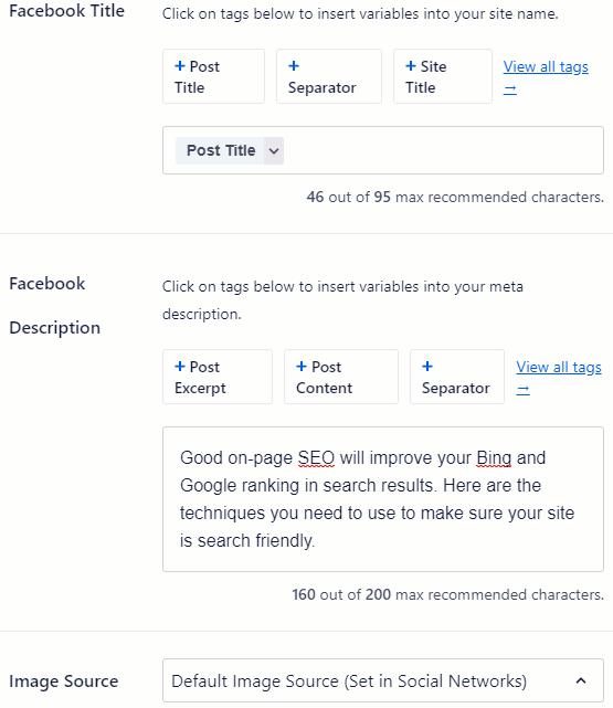 Open Graph tags in All-in-One SEO WordPress plugin