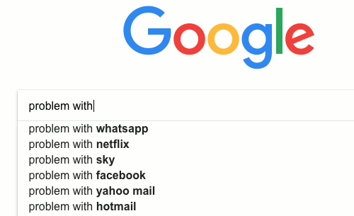 Use Google to find solutions to problems
