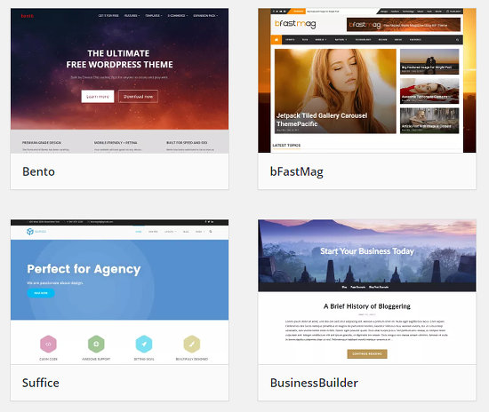 Choose a WordPress theme for your website