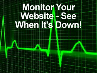 Use an UptimeRobot website monitor to alert you when your website goes offline.