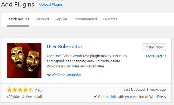 WordPress User Role Editor