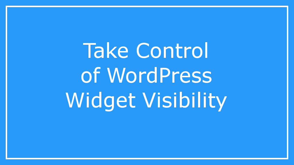 It is possible to show or hide WordPress widgets depending on the page, whether the user is logged in and more. Here is a guide.