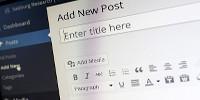 Create a new post in WordPress