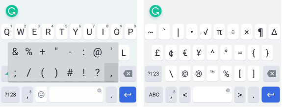 Grammarly Keyboard for Android phones and iPhone