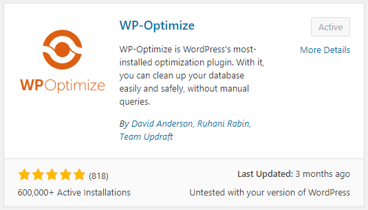 WP-Optimize WordPress plugin