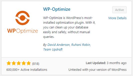 WP-Optimize WordPress plugin