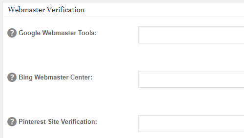 Webmaster and Pinterest verification in WordPress with All-in-One SEO