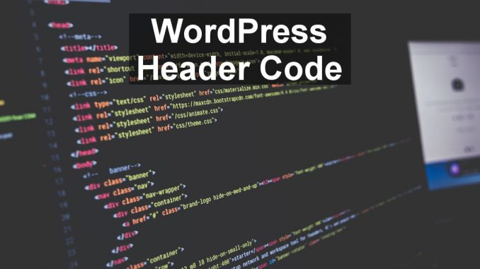 How to insert code into the header of pages on a WordPress website.