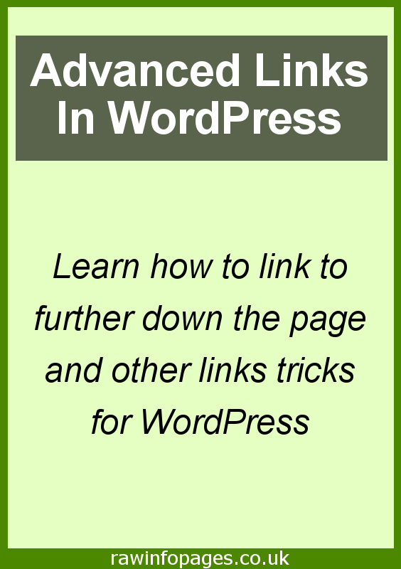 Create links to other parts of the same page and auto-scroll to them in WordPress.