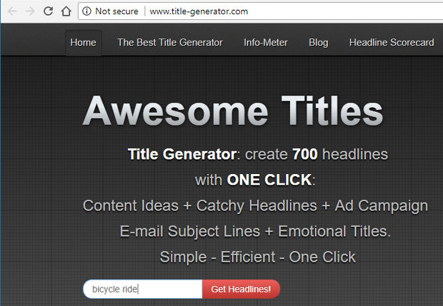 Generate article headings from a words or phrase