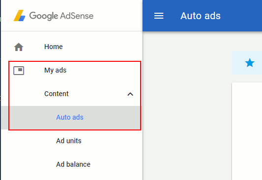 Access Google Auto ads