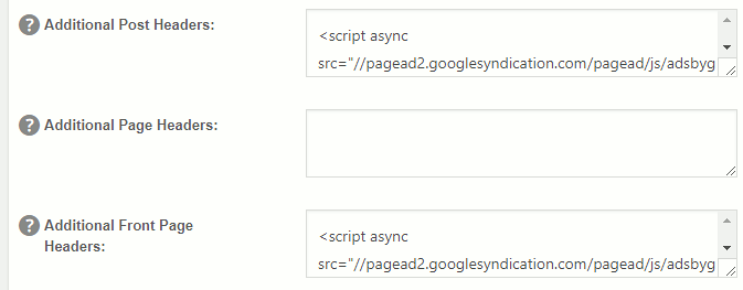 Insert code into headers using All-in-One SEO