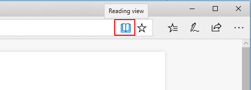 Reading mode in Edge browser in Windows 10
