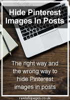 Hide Pinterest images in blog posts using WordPress
