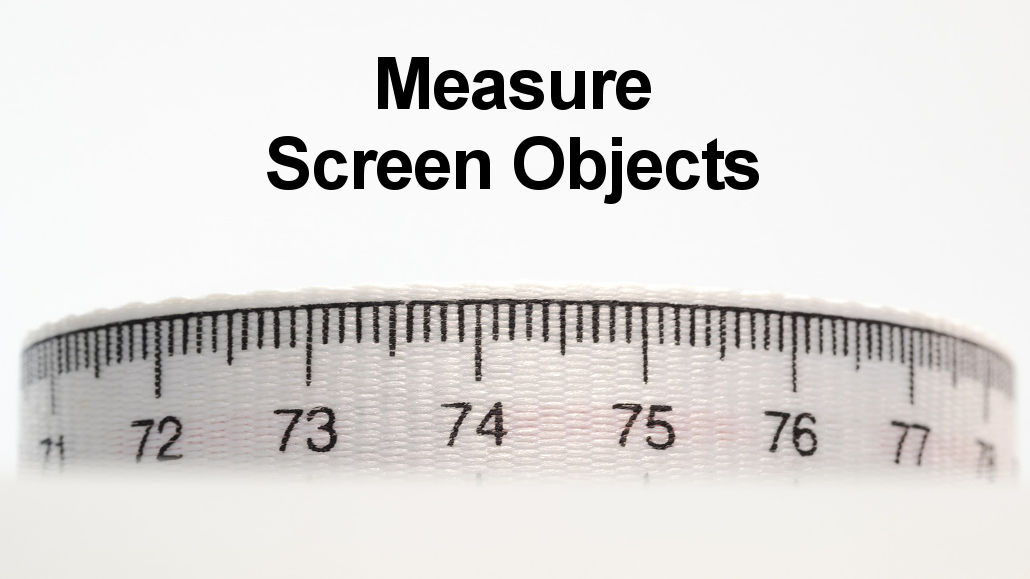 Measure the size of objects on web pages like images, text, sidebars and more with a Chrome extension