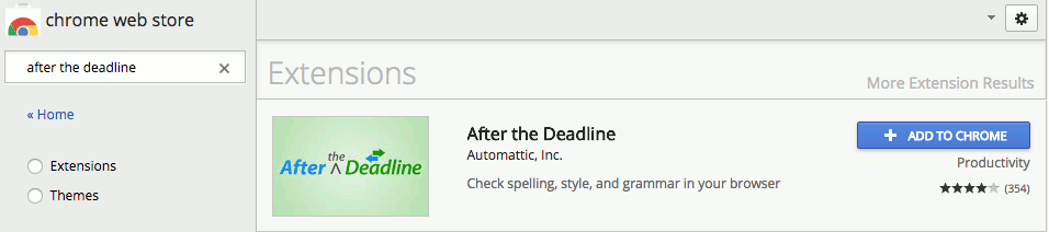 After the Deadline Chrome browser extension