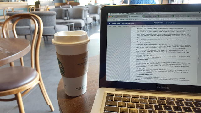 Working on a laptop at a cafe using public Wi-Fi
