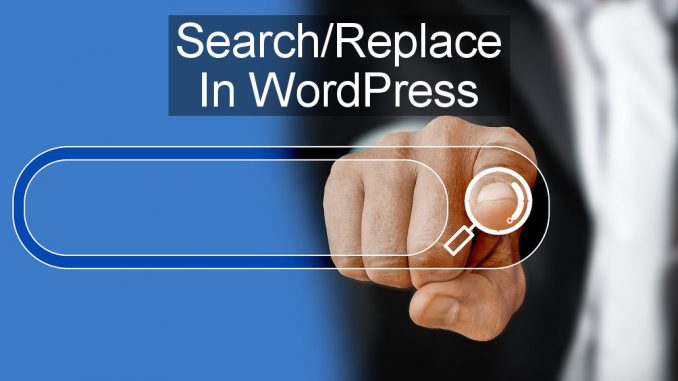 Search and replace any text or URLs across the whole of a WordPress website in one easy step.