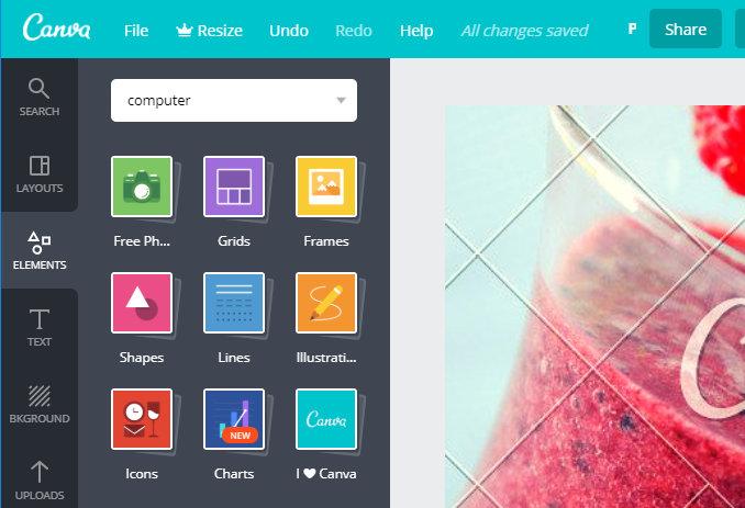 Canva image editor editing tools
