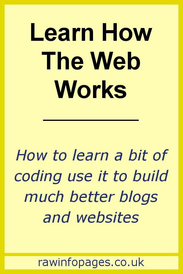 Learn a bit of coding to build a better website