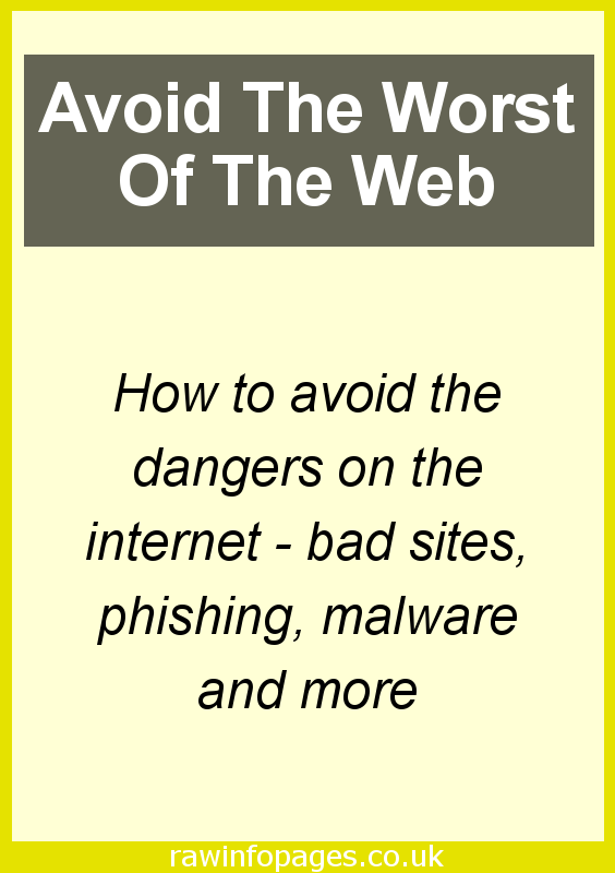 12 ways to stay safe on the web. How to avoid the dangers on the internet.