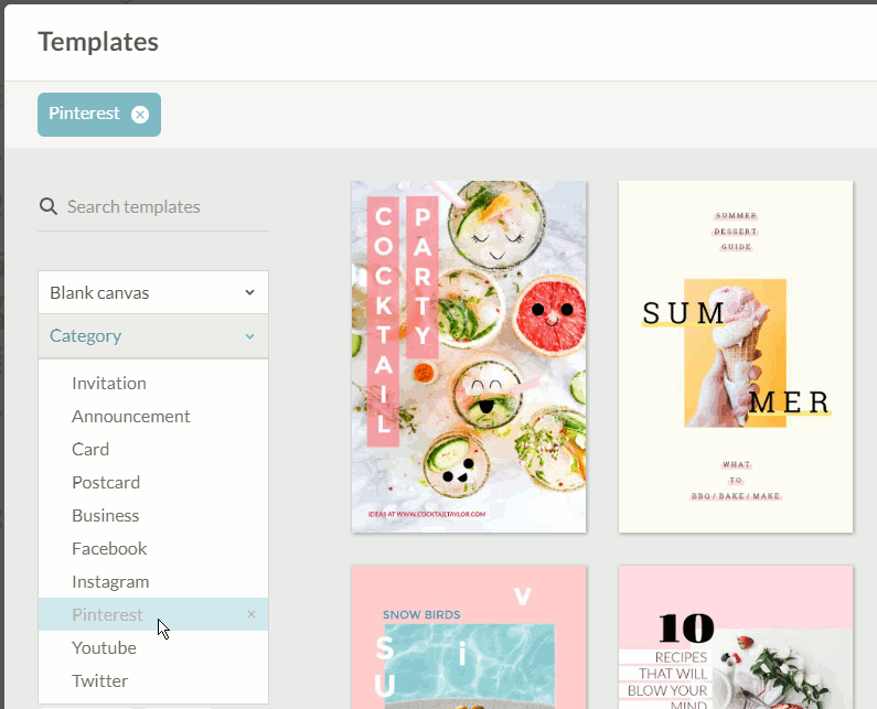 PicMonkey templates for bloggers and social shares