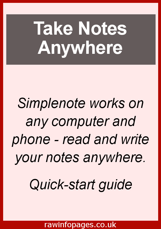 Take notes anywhere with an app that works everywhere. Simplenote is from the makers of wordpress.com and Jetpack and it works brilliantly