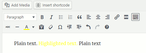 Set the text colour in the WordPress post editor