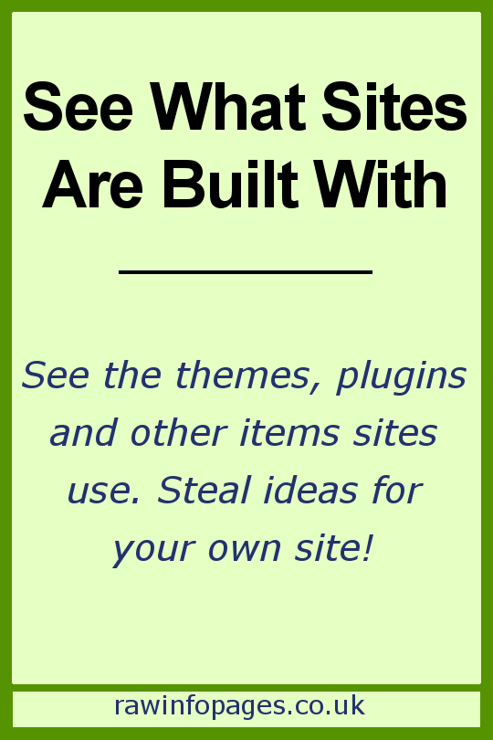 See what websites are built with using a Chrome extension